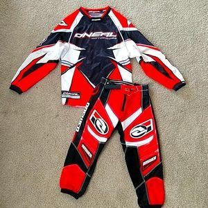 Boys O'Neal motocross jersey pants 18 youth small